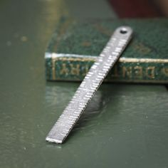 Dollhouse Miniature Silver Ruler