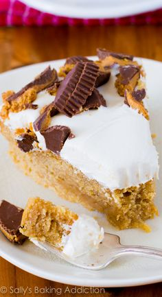 Rich &  moist peanut butter cake topped with creamy, sweet marshmallow frosting! This is the BEST.
