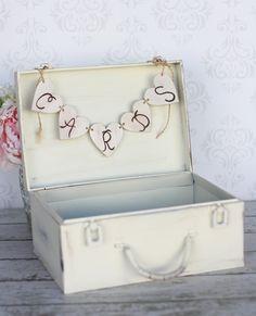 Wedding Card Holder Box Trunk Suitcase Wood And Sign 49 00 Via Etsy Pinterest