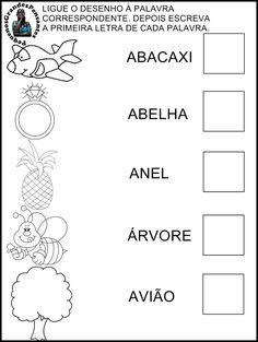Ligue o Desenho à Palavra Correta - Treinar a Vogal A