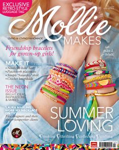 Mollie Makes cover image to access the templates for issue 16′s projects