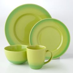 Bobby Flay Ombre Green 16-pc. Dinnerware Set