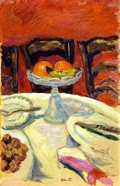 Pierre Bonnard - Bol de fruits avec des oranges (1912)