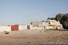 Hotel resort in Oasis on desert , Ksar Ghilan in Tunisia. Africa