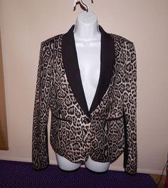 BCBGM MAXAZRIA Dress Jacket Animal Print Sz L Lined evening Slightly Used #BCBGMAXAZRIA #Dress #Business