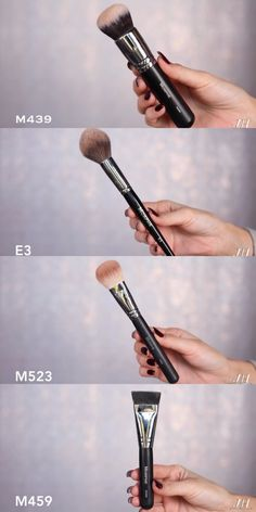 Morphe brushes (top to bottom) Foundation Powder Bronze Contour recommended by Jacklin Hill. Some are discontinued. Some Elite brushes are on sale 5/30/16