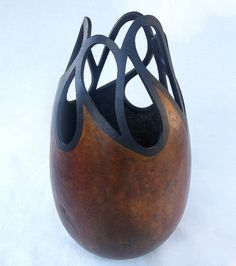 Gourd Art  Tear Drop Cut Out Gourd by neadesigns on Etsy, $132.00  This artist has taken gourd art to the next level !!!  Beautiful !!!!