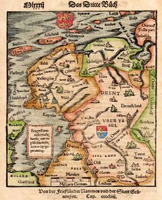 FRIESLAND , EDAM GRUNINGEN BRUGES || Michael Jennings Antique Maps and Prints