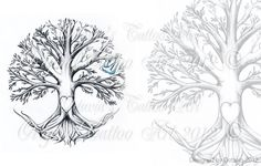 Family Tree Tattoo Flash  INSTANT DOWNLOAD, $13.95