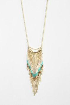 Beaded Fringe Long Necklace #urbanoutfitters