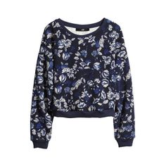H&M Patterned sweatshirt ($15) ❤ liked on Polyvore featuring tops, hoodies, sweatshirts, print top, sweat shirts, h&m sweatshirt, h&m and print sweatshirt