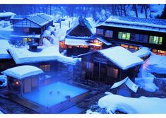 Nyuto Onsen Kyou is the rural spa resort located in Tazawa Lake at the base of Nyuto Mountain in Akita Prefecture. Beautiful Places In Japan, Life Is Beautiful, Japanese Hot Springs, Cultural Architecture, Winter Images, Visit Japan, Akita, Resort Spa, Land Scape