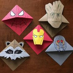 Page Corner Character Bookmarks