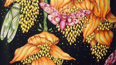 DAYDREAMS- DAGDROMMAR by Hanna Karlzon - prismacolor pencils - color along