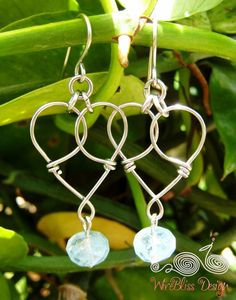 Free TUTORIAL Heart to Heart Earrings by WireBliss on Etsy