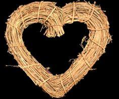 Natural Twig Heart Wreath