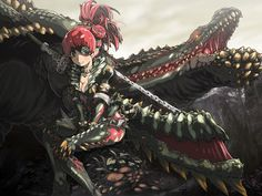 The thought of someone able to tame a Deviljho and sharing its strength is as horrifying as tempting. Such an alchemy and teamwork is way too interesting! Monster Hunter Games, Monster Hunter Series, Female Monster, Monster Girl, Monster Hunter World Wallpaper, Character Art, Character Design, Theme Background, Fantasy Warrior