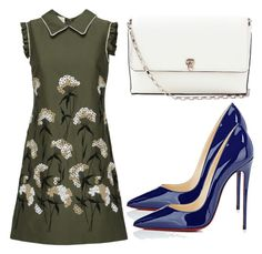 """""""Untitled #3590"""" by evalentina92 ❤ liked on Polyvore featuring Christian Louboutin, Valextra, floral, Pumps, christianlouboutin, ShoulderBag and whitebag"""