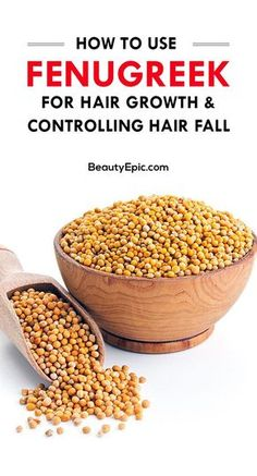 Hair Remedies How to Use Methi (Fenugreek) for Hair Growth and Controlling Hair Fall - Methi contains various vitamins, minerals which are beneficial for overall health and hair. Here we explain some benefits and uses of methi for hair Hair Remedies For Growth, Hair Growth Tips, Hair Loss Remedies, Natural Hair Growth, Natural Hair Styles, Hair Tips, Natural Skin, Natural Health, Hair Ideas
