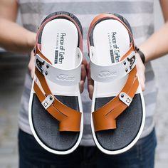 Men Microfiber Leather Non Slip Wear Resistant Metal Casual Beach Sandals Fashion Slippers, Fashion Sandals, Beach Sandals, Shoes Sandals, Dorothy Shoes, Leather Slippers For Men, Best Shoes For Men, Black Leather Sandals, Casual Shoes