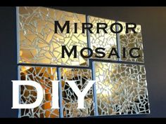 DIY: Mirror Mosaic Art ♡ Theeasydiy #ArtForTheNonArtist (+playlist)