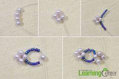 make the inner part of the purple flower bracelet1