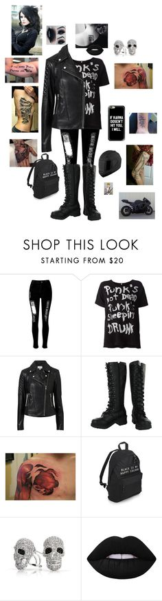 """""""Untitled #193"""" by icyraindancer ❤ liked on Polyvore featuring WithChic, Witchery, Bling Jewelry, Lime Crime and Kawasaki"""