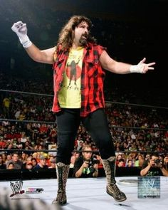 Mankind 2007 Action Photo Print x Famous Wrestlers, Wwe Wrestlers, Wwe Lucha, Ecw Wrestling, Mick Foley, Cute Piglets, Professional Wrestling, Professional Photographer, Poses