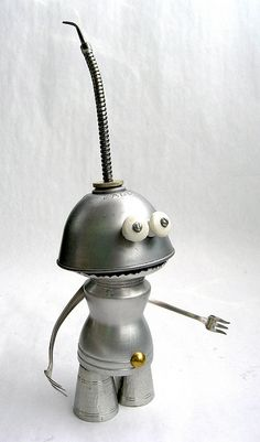 Gle - Found Object Robot Assemblage Sculpture by Brian Marshall by adopt-a-bot, via Flickr