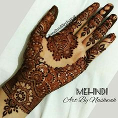 Mehndi Designs For Beginners - Type Design Pretty Henna Designs, Indian Mehndi Designs, Latest Bridal Mehndi Designs, Henna Art Designs, Modern Mehndi Designs, Mehndi Designs For Beginners, Mehndi Design Pictures, Mehndi Designs For Girls, Wedding Mehndi Designs