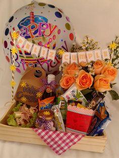 Diy Birthday, Birthday Gifts, Happy Birthday, Breakfast Basket, Birthday Gift Baskets, Decorated Shoes, Teachers' Day, Lets Celebrate, Balloons