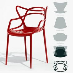 Masters chair by Philippe Starck for Kartell - very innovative combination of all the great design masters
