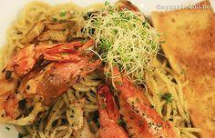 Aglio Olio Gamberi from Nectar Restaurant.. Yum! <3