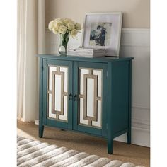 Shop for K and B Furniture Co Inc. Antique Blue Wood Door Console Table. Get free shipping at Overstock.com - Your Online Furniture Outlet Store! Get 5% in rewards with Club O! - 21546528