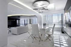 White interior home living room decorating