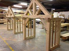 Cottage Front Doors, House Front Porch, Front Porch Design, Door Canopy Porch, Porch Doors, Porch Oak, Barn Conversion Exterior, Mobile Home Porch, Roof Truss Design