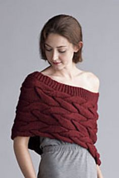 Ravelry: Shaped Capelet with Braided Cables pattern by Erica Patberg