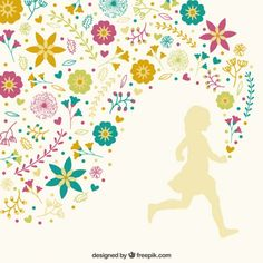 Girl running with floral decoration - Freepik.com-Flowers-pin-18