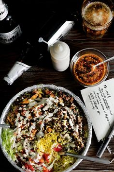 "THE NEW YORK HALAL DRUNK FOOD | ""Try quinoa, cauliflower 'rice', spaghetti squash, chopped kuzu noodles in place of basmati rice for a grain-free meal."" -MB."