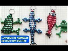 Pony Bead Crafts, Pony Beads, Diy Crafts, Christmas Ornaments, Key Chains, Holiday Decor, Keys, Craft, Craft Videos