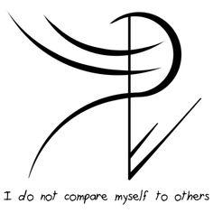 "Sigil Athenaeum - ""I do not compare myself to others"" sigil ..."