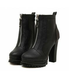 #Black #Chunky #HighHeel #Zip #AnkleBoots £35.99 @ ShanghaiTrends.co.uk
