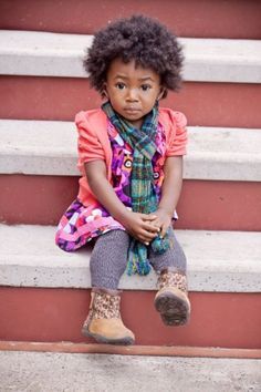 oh my goodness...she is too precious for words. beautiful!!!!      yarrahs-life:    Aww, look at baby girl. :)    Black Girls Killing ItShop BGKI NOW oh-so-styley