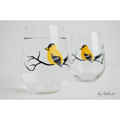 Hummingbird Stemless W*ne Glasses