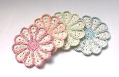 Knitting Yarn, Coasters, Daisy, Yarns, Floral, Cute, Flowers, Handmade, Crocheting