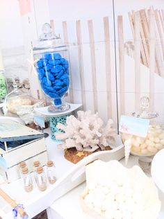 """""""Summer Dreaming"""" Beach Themed Party by Candy Land Buffets – My WordPress Website Diy Party, Party Ideas, Event Ideas, Theme Ideas, Barbie Birthday, Mermaid Birthday, Graduation Theme, Beach Themes, Beach Ideas"""