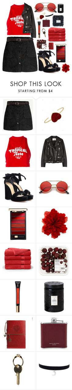 """Red back to school"" by mode-222 ❤ liked on Polyvore featuring GCDS, Acne Studios, Alexandre Birman, ZeroUV, L'Oréal Paris, Gucci, Brooks Brothers, Yves Saint Laurent, Voluspa and Aspinal of London"