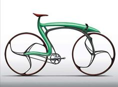 Cool bike designs Concept track bike from designer Alex Suvajac. The bike utilizes current technologies and material. It looks progressive, sleek, fast and fan. The author states that the bike was inspired from nature. Looks very unusual indeed Velo Design, Bicycle Design, Cool Bicycles, Cool Bikes, Velo Tricycle, Gp Moto, Bicycle Art, Motorcycle Bike, Motorcycle Dealers