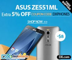 Extra $8 OFF! ASUS ZE551ML Android5.0 Quad-Core 4G Phone With Coupon Code