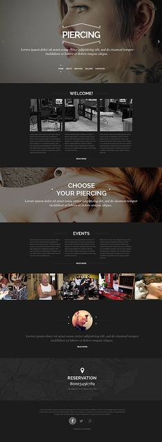 Piercing Studio #website #template. #themes #business #responsive